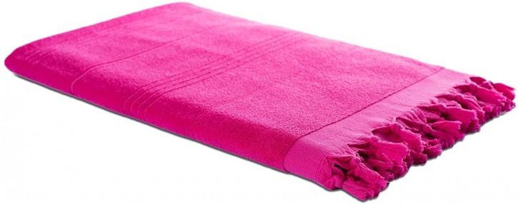 Hamamtuch FROTTIER 2in1 pink, Handtuch und Pestemal in einem, 100% Baumwolle, 90 x 190 cm