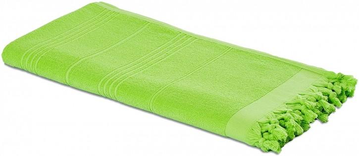 Hamamtuch FROTTIER 2in1 apfelgrün, Handtuch und Pestemal in einem, 100% Baumwolle, 90 x 190 cm