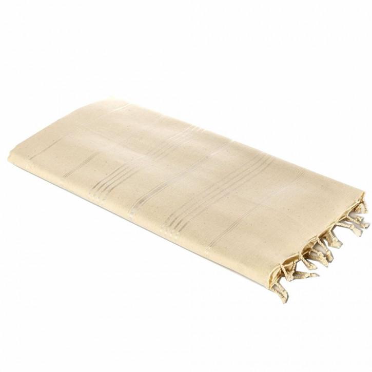 Carenesse Hamamtuch Sultan Natur I Extra breites Hamam Handtuch aus ungebleichter Baumwolle 100 x 170 cm