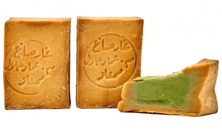2x Aleppo Seife 20% Lorbeeröl 80% Olivenöl nährend & rückfettend Naturseife für Körper, Gesicht, Haare, 2x200g