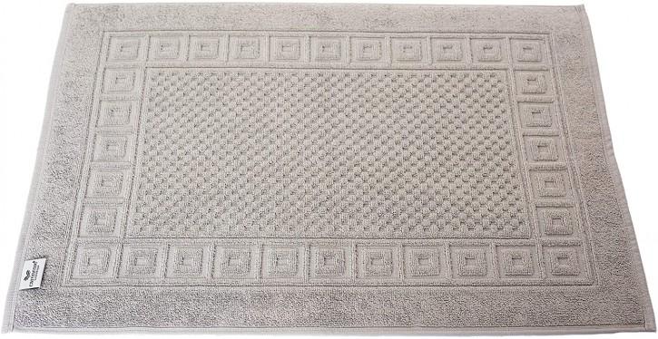 2x Badvorleger WAFFEL 50x70 cm taupe grau Premium Hotelqualität 100% Baumwolle saugstark & strapazierfähig