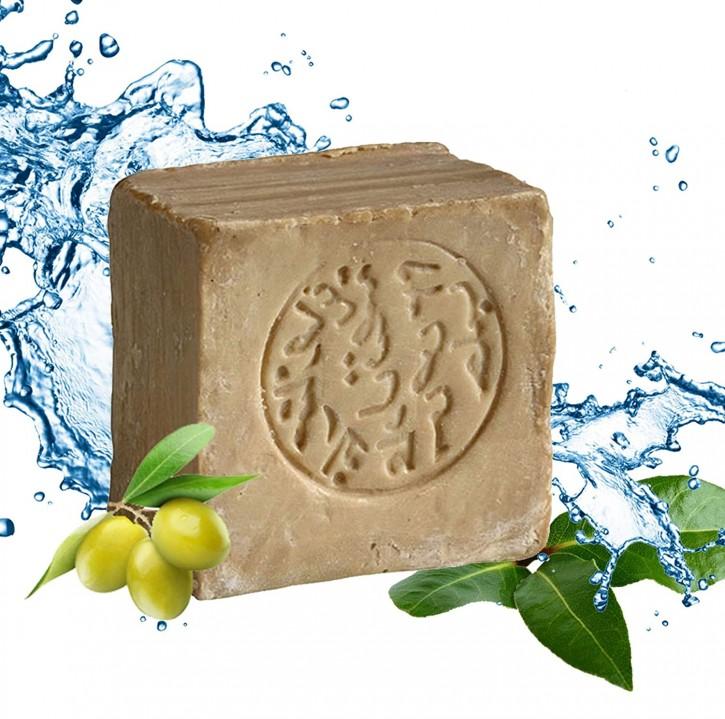 Aleppo Seife 15% Lorbeeröl 85% Olivenöl nährend & rückfettend Naturseife für Körper, Gesicht, Haare, 1x200g