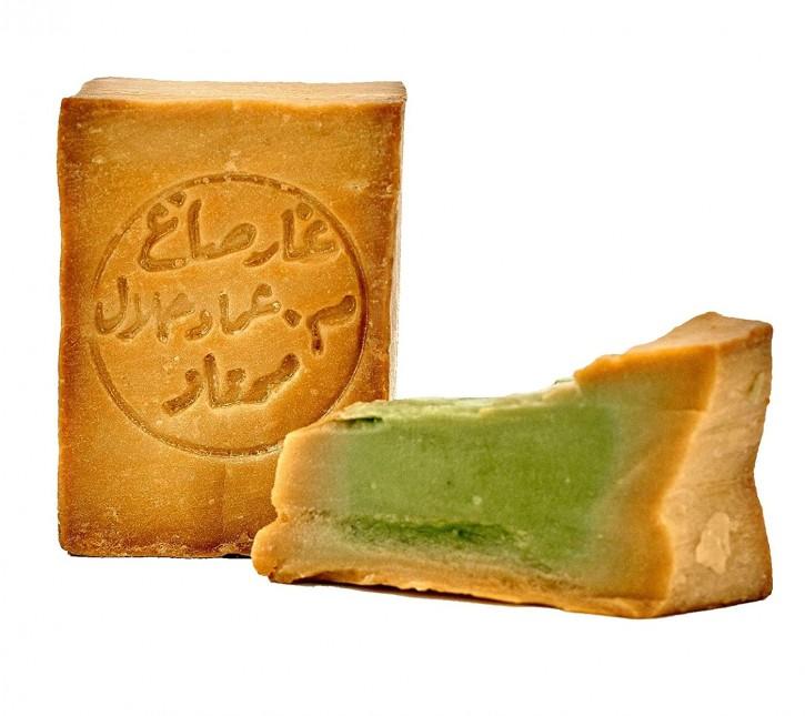 Aleppo Seife 20% Lorbeeröl 80% Olivenöl nährend & rückfettend Naturseife für Körper, Gesicht, Haare, 1x200g