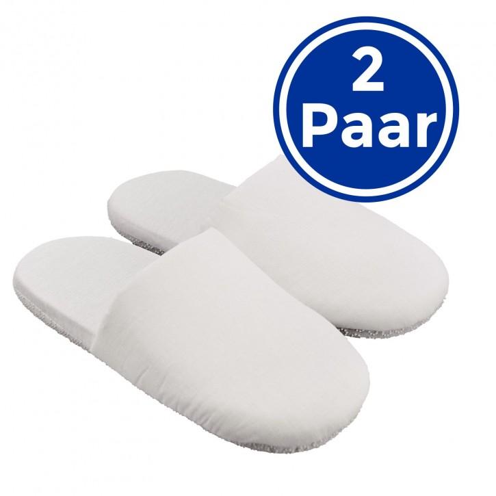2 Paar Wellness-Pantoffeln L Soft und hygienisch Hotelslipper geschlossen Einheitsgröße L 40-43