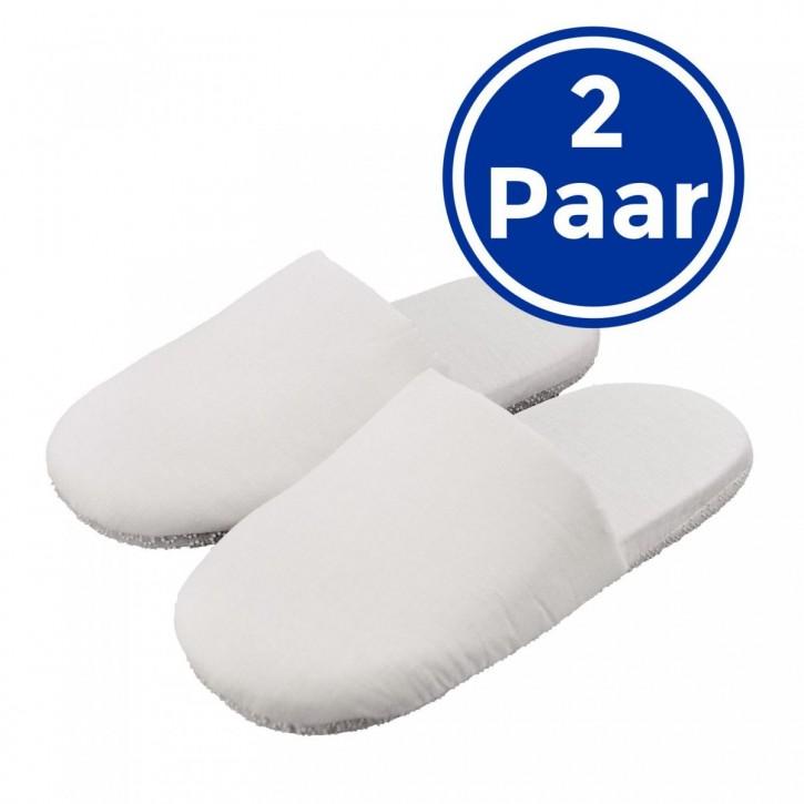 2 Paar Wellness-Pantoffeln S-M, Soft und hygienisch Hotelslipper geschlossen Einheitsgröße S-M 37-39