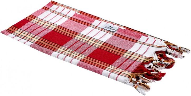 Hamamtuch CLASSIC rot kariert, leicht & platzsparend, 100% Baumwolle, 80 x 170 cm