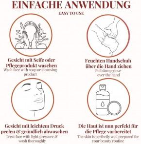 """GESICHTS Peeling Handschuh SENSTIVE Ökotest """"GUT""""  ultimatives Peeling für samtweiche & strahlend schöne Haut"""