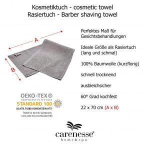 Gesichts-Kompresse 22 x 70 cm grau für Kosmetik & Rasur Zwirnfrottier 100% Baumwolle 6er Pack