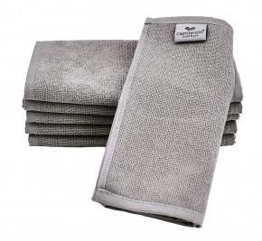 Rasiertuch 6er Pack grau 22 x 70 cm perfektes Maß 100% Baumwolle Zwirnfrottier