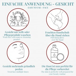 NATURAL PEELING VISKOSE Peelinghandschuh für porentief reine & samtweiche Haut