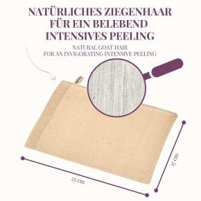 NATURAL PEELING ZIEGENHAAR Peelinghandschuh für verjüngtes & vitales Hautgefühl
