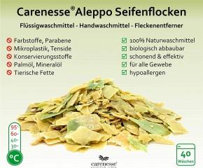 Aleppo Seifen-Flocken 75% Olivenöl 25% Lorbeeröl Öko-Waschmittel ohne Zusatzstoffe 400g