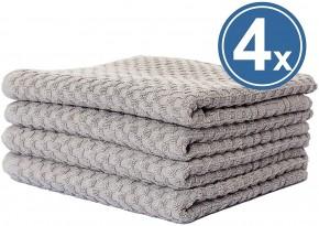 Handtuch-Set 8 tlg. WAFFEL taupe grau Premium Hotelqualität 100% Baumwolle saugstark & strapazierfähig