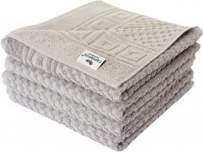4x Handtuch WAFFEL 50x100 cm taupe grau Premium Hotelqualität 100% Baumwolle saugstark & strapazierfähig