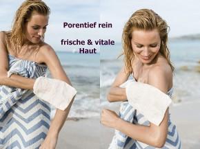 NATURAL PEELING SEIDE Seiden-Peelinghandschuh für straffes & seidenglattes Hautgefühl