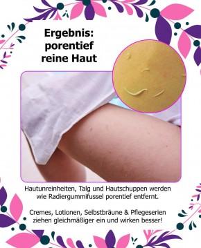"""2er Pack Peeling-Handschuhe Körper- und Gesichtspeeling  Ökotest """"GUT"""" für samtweiche & strahlend schöne Haut"""