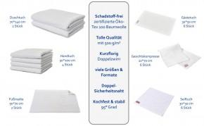Kosmetik Gesichtskompresse 6er Pack weiß 22 x 70 cm perfektes Maß 100% Baumwolle Zwirnfrottier
